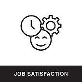 Job Satisfaction Outline Icon Design