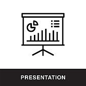 Presentation Outline Icon Design