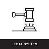 Legal System Outline Icon Design