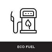 Eco Fuel Outline Icon Design