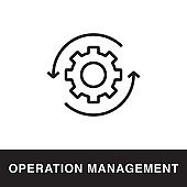 Operation Management Outline Icon Design