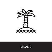 Island Outline Icon Design
