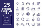 Business Principles Line Icon Design