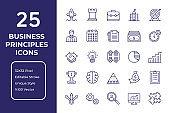 Business Principles Line Icon Design