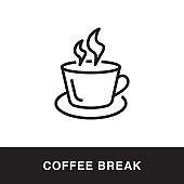 Coffee Break Outline Icon Design