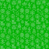Seamless Pattern with Sustainability Icons.