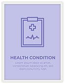 HEALTH CONDITION SINGLE ICON POSTER DESIGN