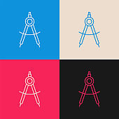 Drawing Compass multi color icon