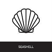 Seashell Outline Icon Design