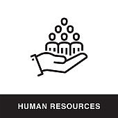 Human Resources Outline Icon Design