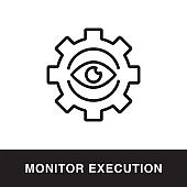 Monitor Execution Outline Icon Design