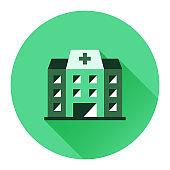 Hospital Flat Style Icon Design