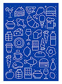 Food And Drink Icon Pattern Design