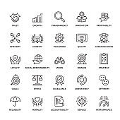 Premium Quality Core Values Icon Set