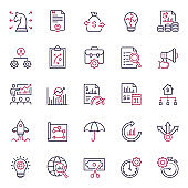 Premium Quality Multicolor Business and Finance Icon Set