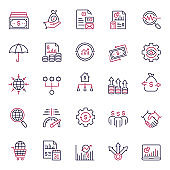 Premium Quality Multicolor Financial Management Icon Set