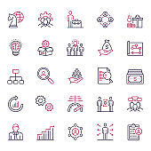 Premium Quality Multicolor Human Resources Management Icon Set