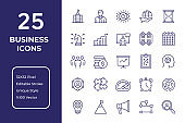 Business Line Icon Design