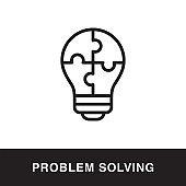 Problem Solving Outline Icon Design