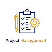 Project Management line color icon