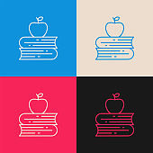 Knowledge multi color icon