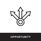 Opportunity Outline Icon Design