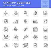 Start Up Business Line Icon Series