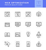 Web Optimization Line Icon Series
