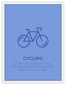 CYCLING SINGLE ICON POSTER DESIGN