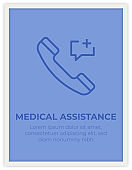MEDICAL ASSISTANCE SINGLE ICON POSTER DESIGN