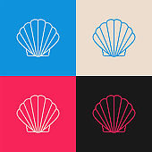 Oyster Shell multi color icon