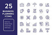 Business Plan Line Icon Design