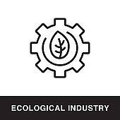 Ecological Industry Outline Icon Design