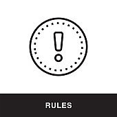 Rules Outline Icon Design