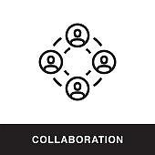 Collaboration Outline Icon Design