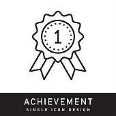 Achievement Outline Icon Design