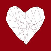 Red polygon heart.