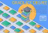 A graduate School concept vector Illustration.