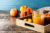 Natural peach juice
