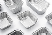 Disposable metal food container
