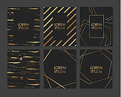 Wedding invitation cards with gold