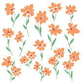 Vector illustration material of a beautiful flower,