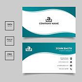 Wavy gradient business card templates design