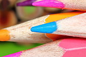 many pencil color for drawing in macro