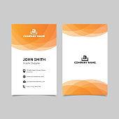 Gradient orange geometry business card templates