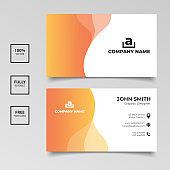 Elegance black and orange business card template design
