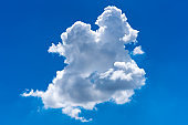 Nature single white cloud on blue sky