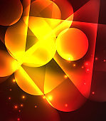 Light neon glow circles background, bright banner with shiny round shapes and electric effects.