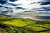 Scenic Landscape at the Coast of Ireland