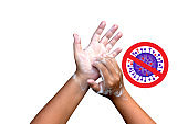 How to wash your hands World Health Organization.Demonstration of Seven Steps to wash your Hands Properly Prevention Corona virus 2019 the most transmission of virus or bacterai from hand touch.